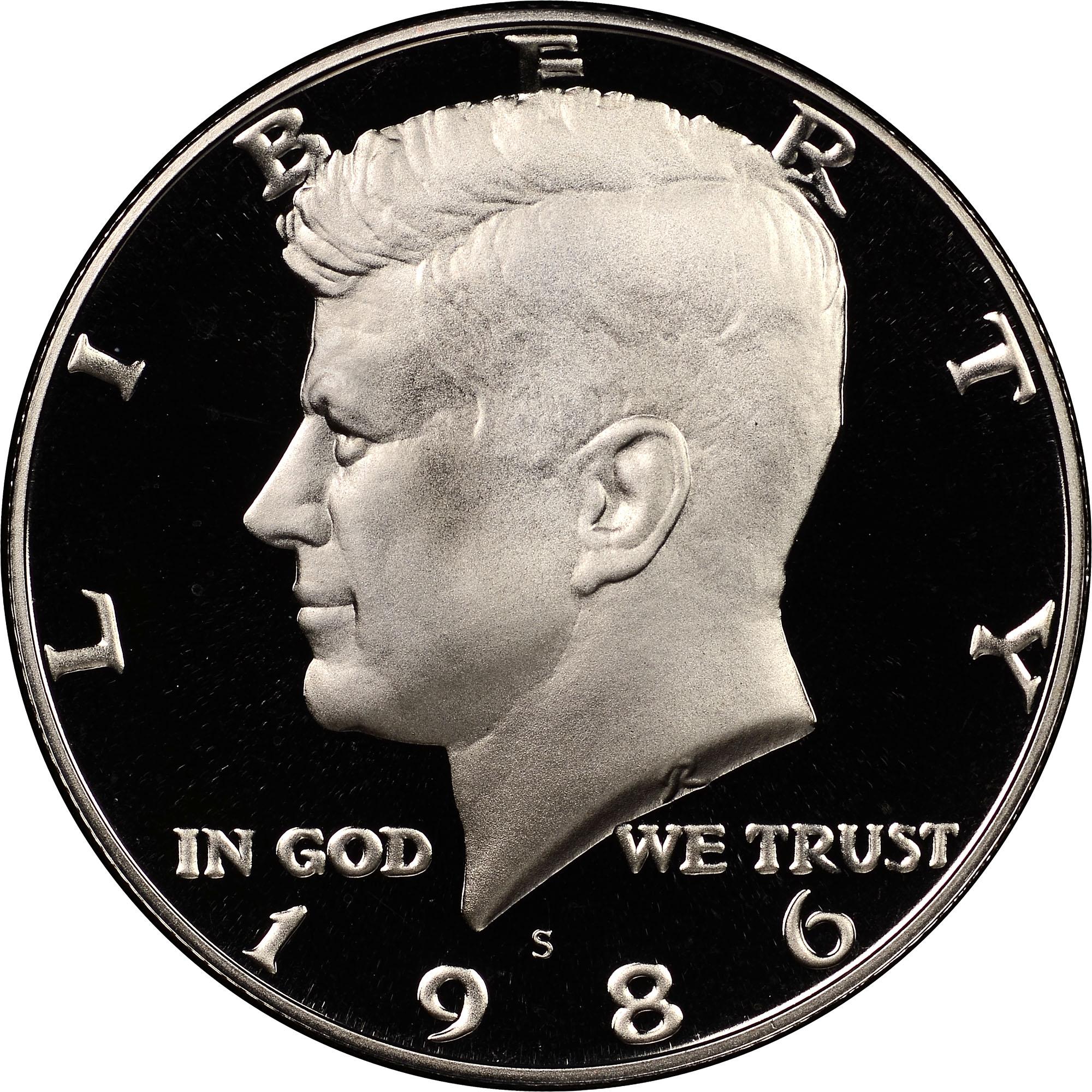1986-D      CHOICE  BU      KENNEDY  50c