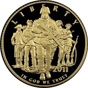 2011 W UNITED STATES ARMY $5 PF obverse