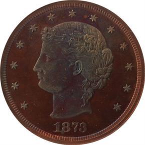 1873 J-1283 T$1 PF obverse