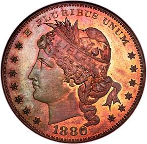 1880 J-1652 S$1 PF obverse