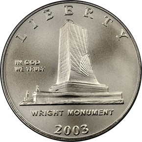 2003 P FIRST FLIGHT CENTENNIAL 50C MS obverse