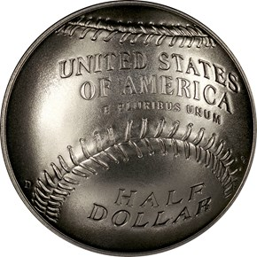2014 D BASEBALL HALL OF FAME 50C MS reverse