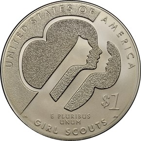 2013 W GIRL SCOUTS S$1 MS reverse