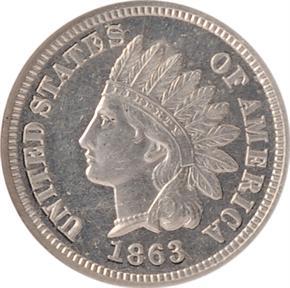 1863 J-304 1C PF obverse