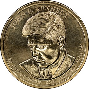 2015 D JOHN F. KENNEDY $1 MS obverse