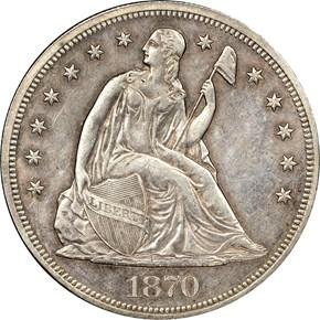 1870 CC S$1 MS obverse