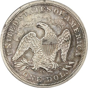1870 CC S$1 MS reverse