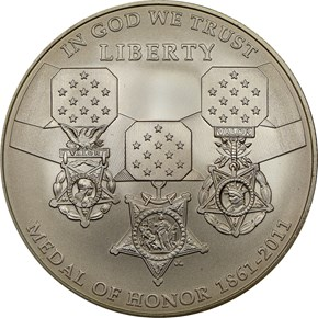2011 S MEDAL OF HONOR S$1 MS obverse