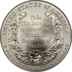 2010 W DISABLED VETERANS S$1 MS reverse