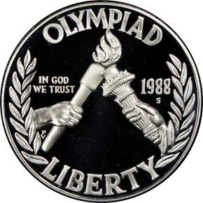 1988 S OLYMPICS S$1 PF obverse