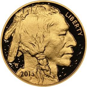 2015 W BUFFALO .9999 FINE G$50 PF obverse