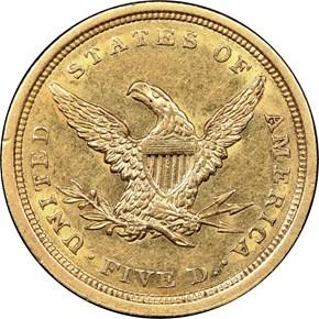 1840 $5 MS reverse