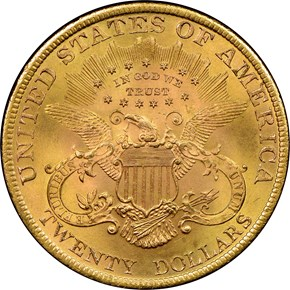 1899 $20 MS reverse
