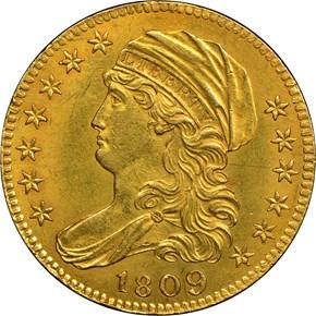 1809/8 BD-1 $5 MS obverse