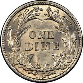 1913 S 10C MS reverse