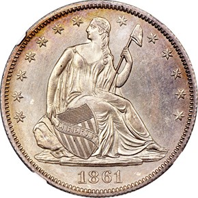 1861 O 50C SP obverse