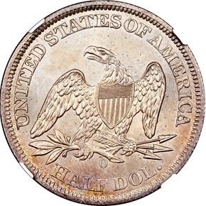 1861 O 50C SP reverse