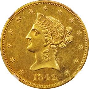 1842 O $10 SP obverse