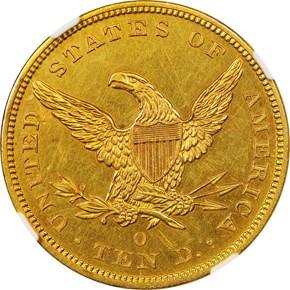 1842 O $10 SP reverse