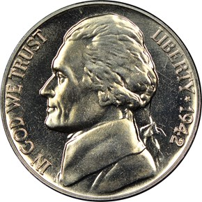 1942 NICKEL 5C PF obverse