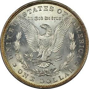 1880 S$1 MS reverse