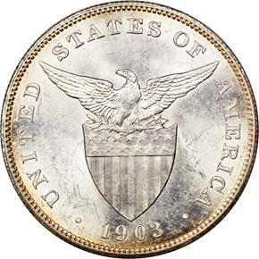 1903 USA-PHIL PESO MS reverse
