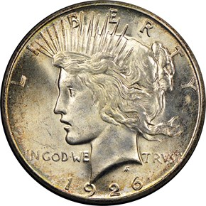 1926 S S$1 MS obverse