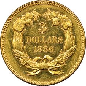 1886 $3 PF reverse