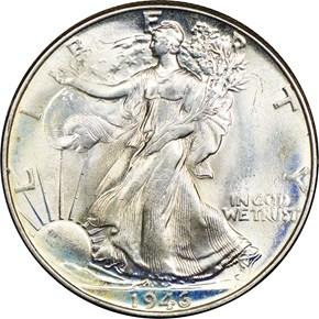 1946 50C MS obverse