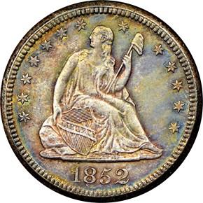 1852 O 25C MS obverse