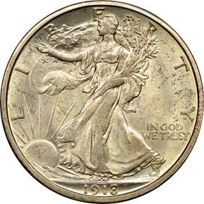 1918 S 50C MS obverse