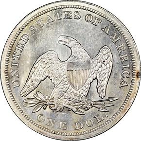 1849 $1 MS reverse