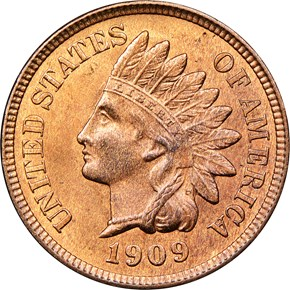 1909 INDIAN 1C MS obverse