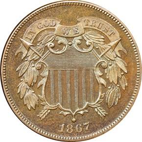 1867 2C PF obverse