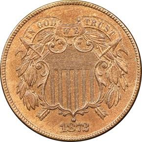 1872 2C PF obverse