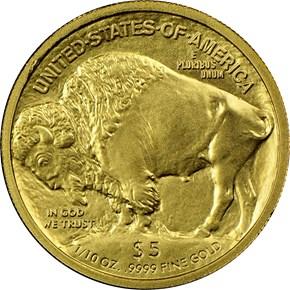 2008 W BUFFALO .9999 FINE G$5 MS reverse