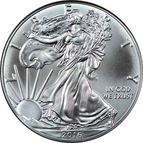 2016 EAGLE S$1 MS obverse