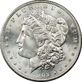 1903 S $1 MS obverse