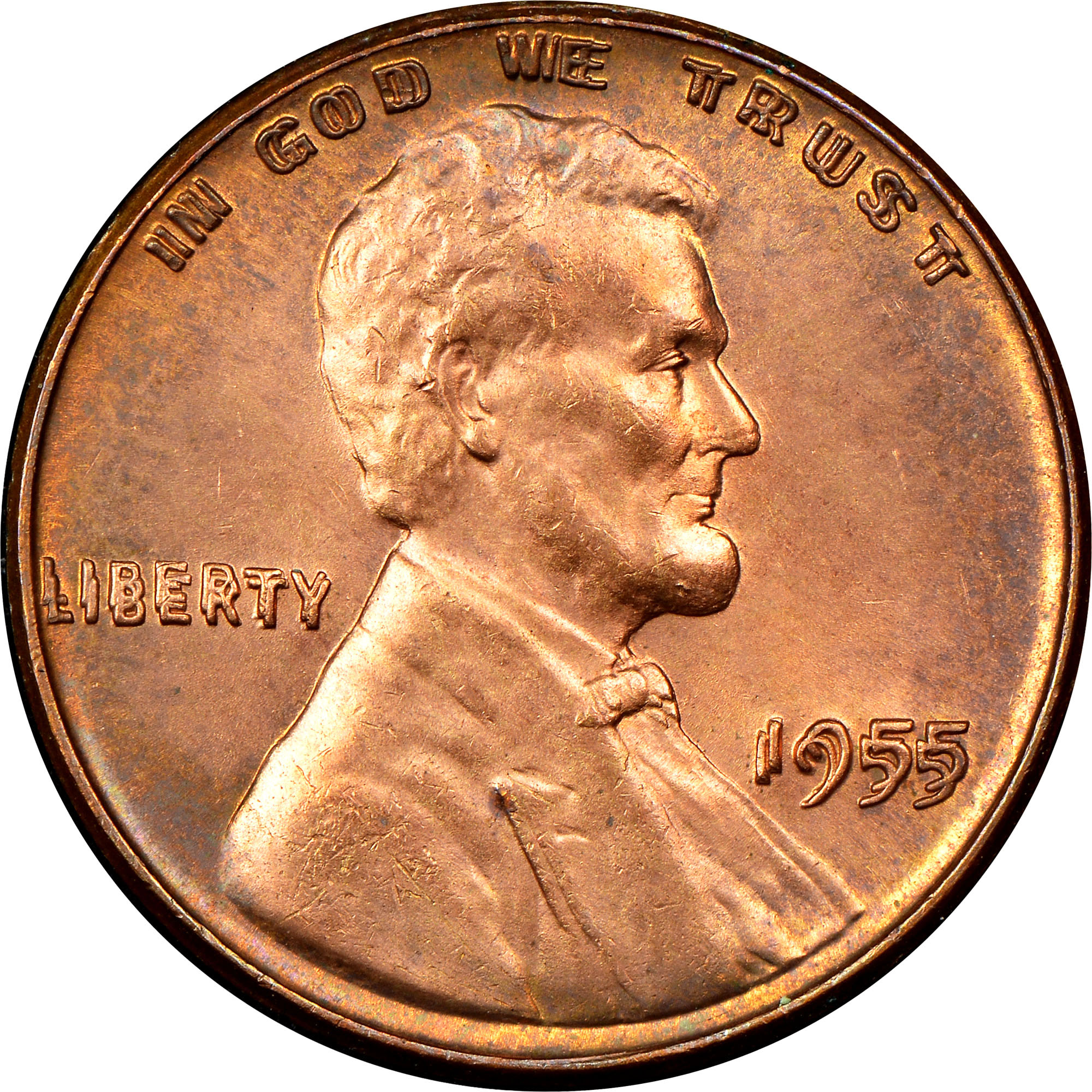 1955 Doubled Die Obv 1C MS Lincoln Cents, Wheat Reverse | NGC