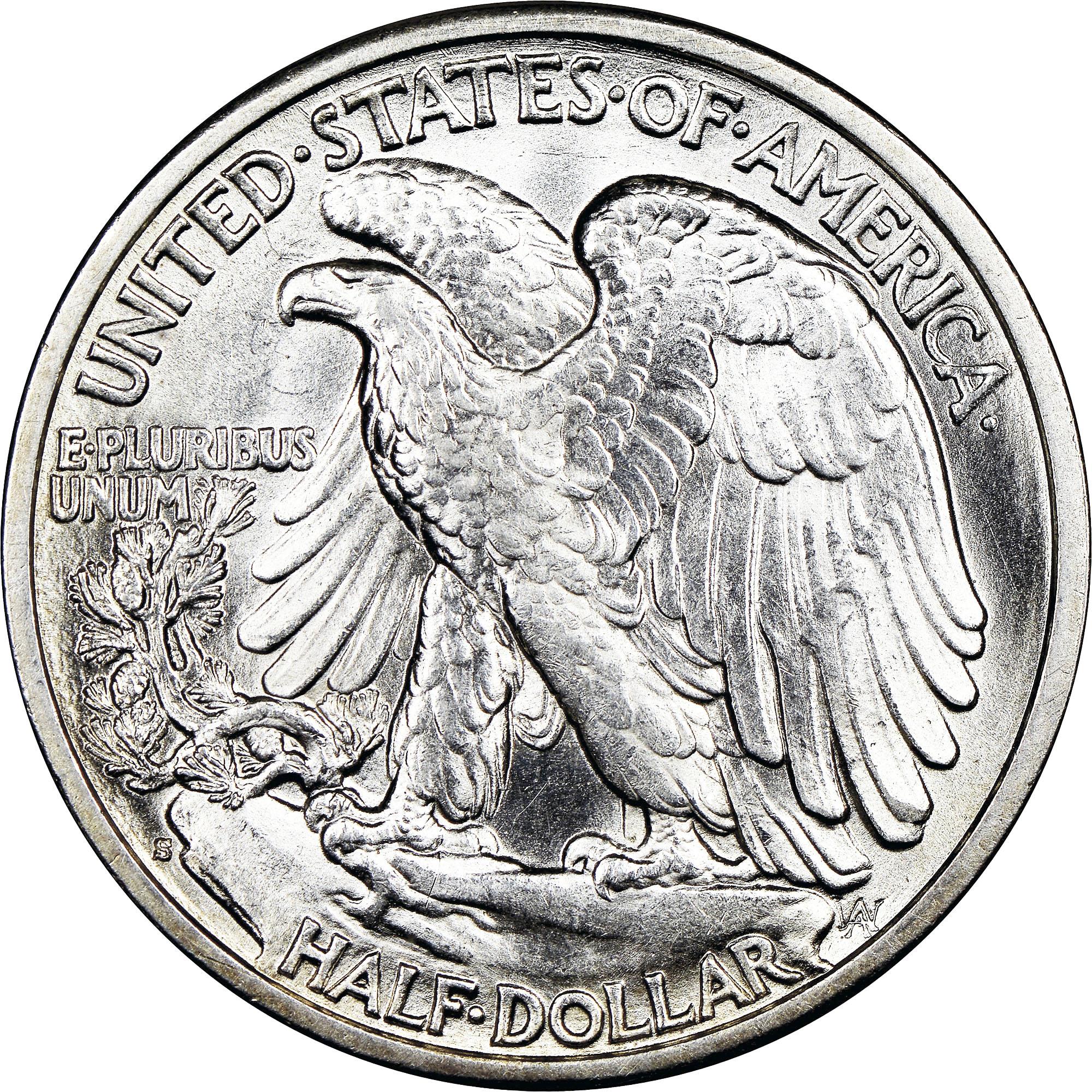 1947-D 50c Liberty Walking Silver Half Dollar Average Circulated