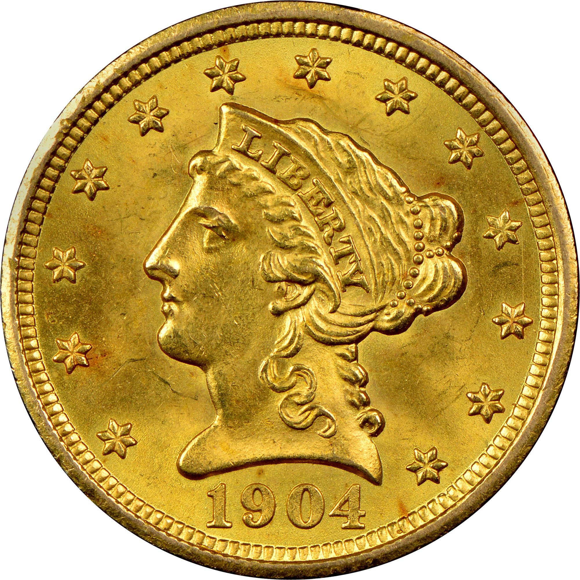 NGC Coin ExplorerLiberty Head $2.501904 $2.5 MS