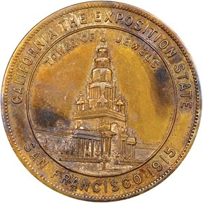 1915 CA HK-416 TOWER OF JEWELS SC$1 MS obverse