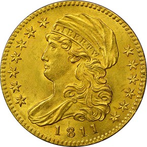 1811 SMALL 5 BD-2 $5 MS obverse