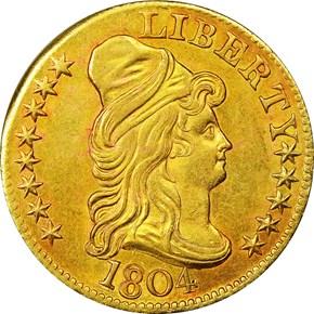 1804 SM/LG 8 $5 MS obverse