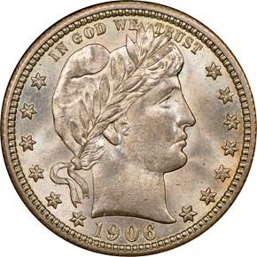 1906 25C MS obverse