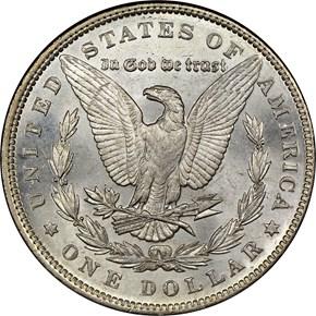 1892 $1 MS reverse