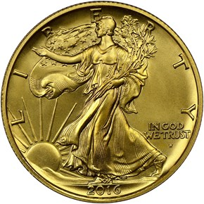 2016 W 24K GOLD 1/2oz 50C SP obverse