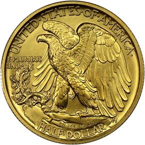 2016 W 24K GOLD 1/2oz 50C SP reverse