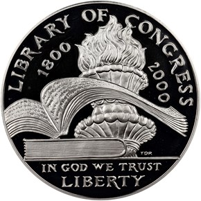 2000 P LIBRARY OF CONGRESS S$ obverse