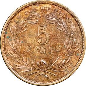 1866 J-462 5C PF reverse